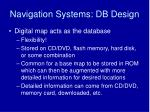 navigation systems db design