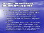 ds 58 appellate body findings regarding article xx cont d