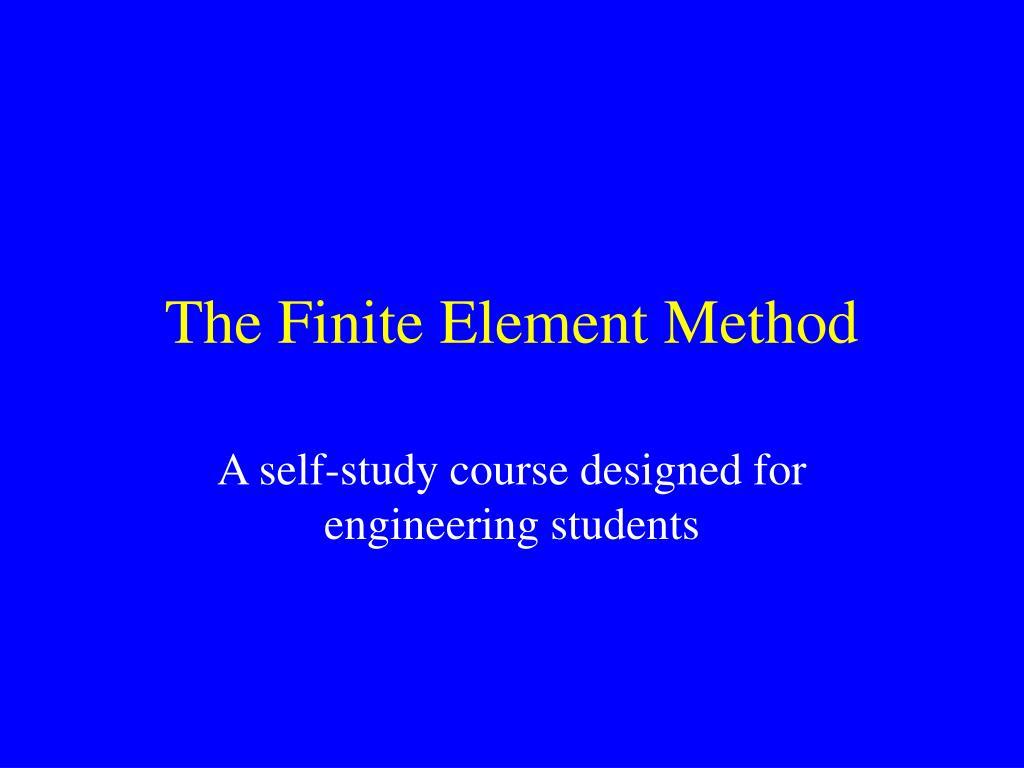 the finite element method l.