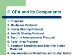2 cpa and its components