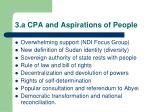 3 a cpa and aspirations of people