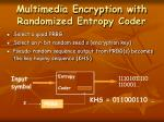 multimedia encryption with randomized entropy coder