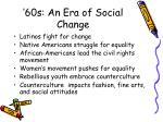 60s an era of social change