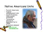 native americans unite