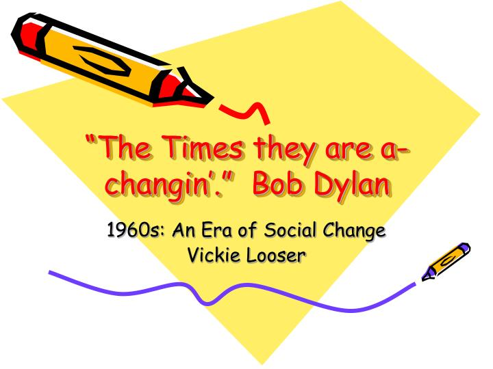 the times they are a changin bob dylan n.