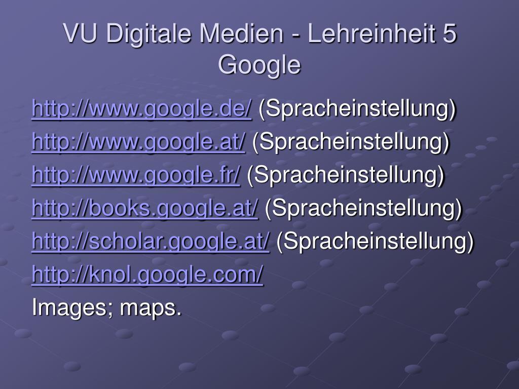 vu digitale medien lehreinheit 5 google l.