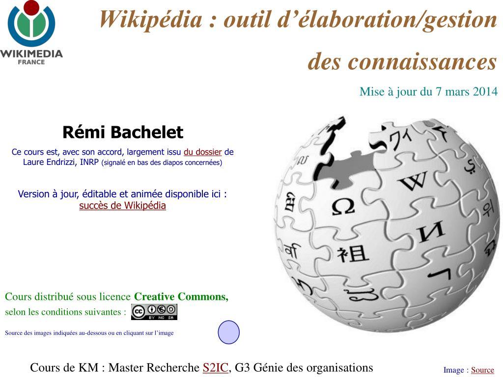wikip dia outil d laboration gestion des connaissances l.