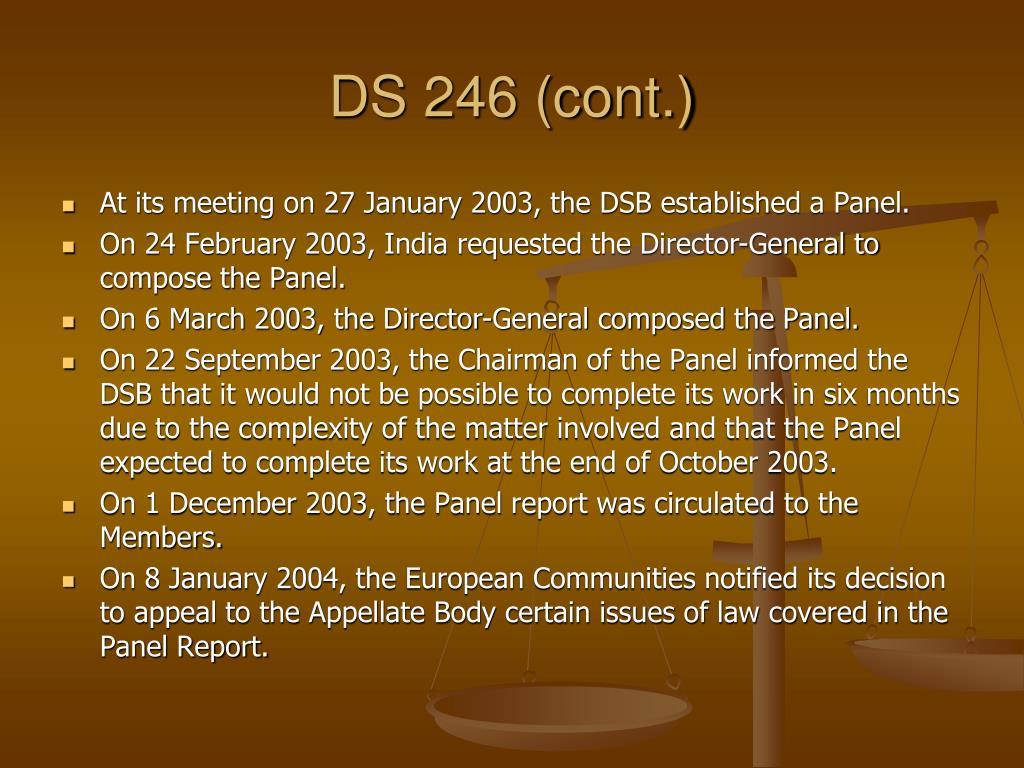 DS 246 (cont.)