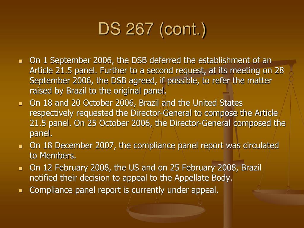 DS 267 (cont.)