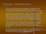 pakistan commitments