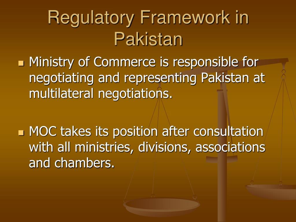 Regulatory Framework in Pakistan