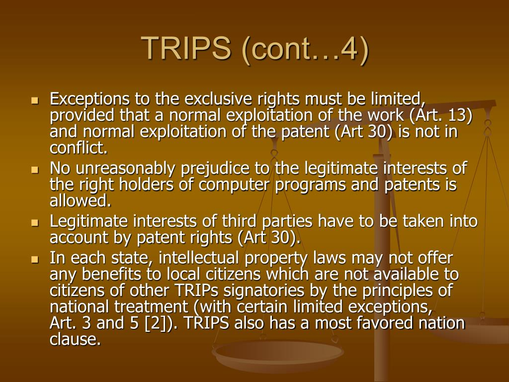 TRIPS (cont…4)