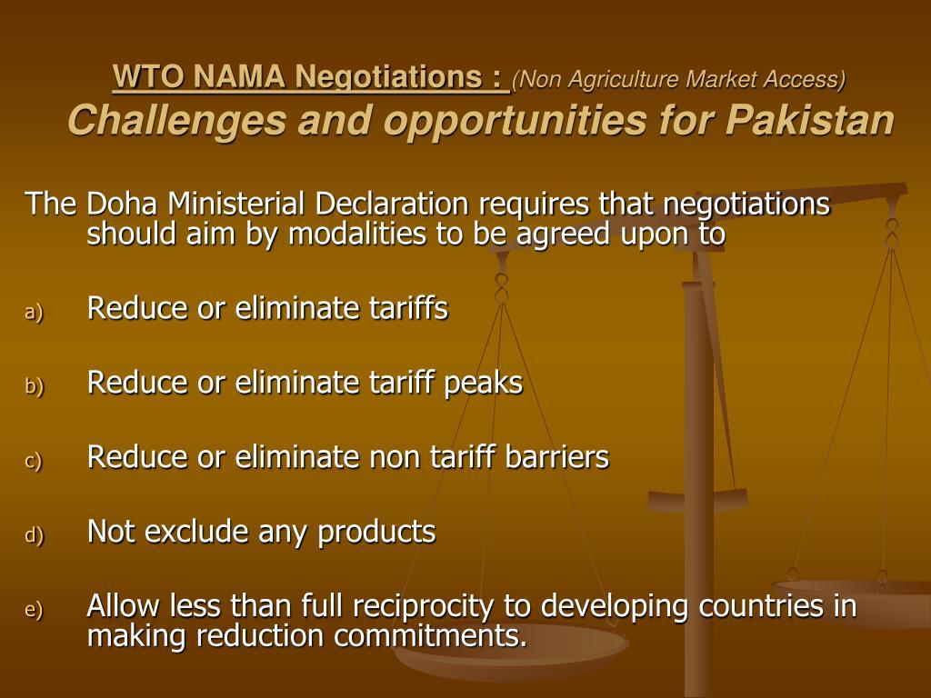 WTO NAMA Negotiations :