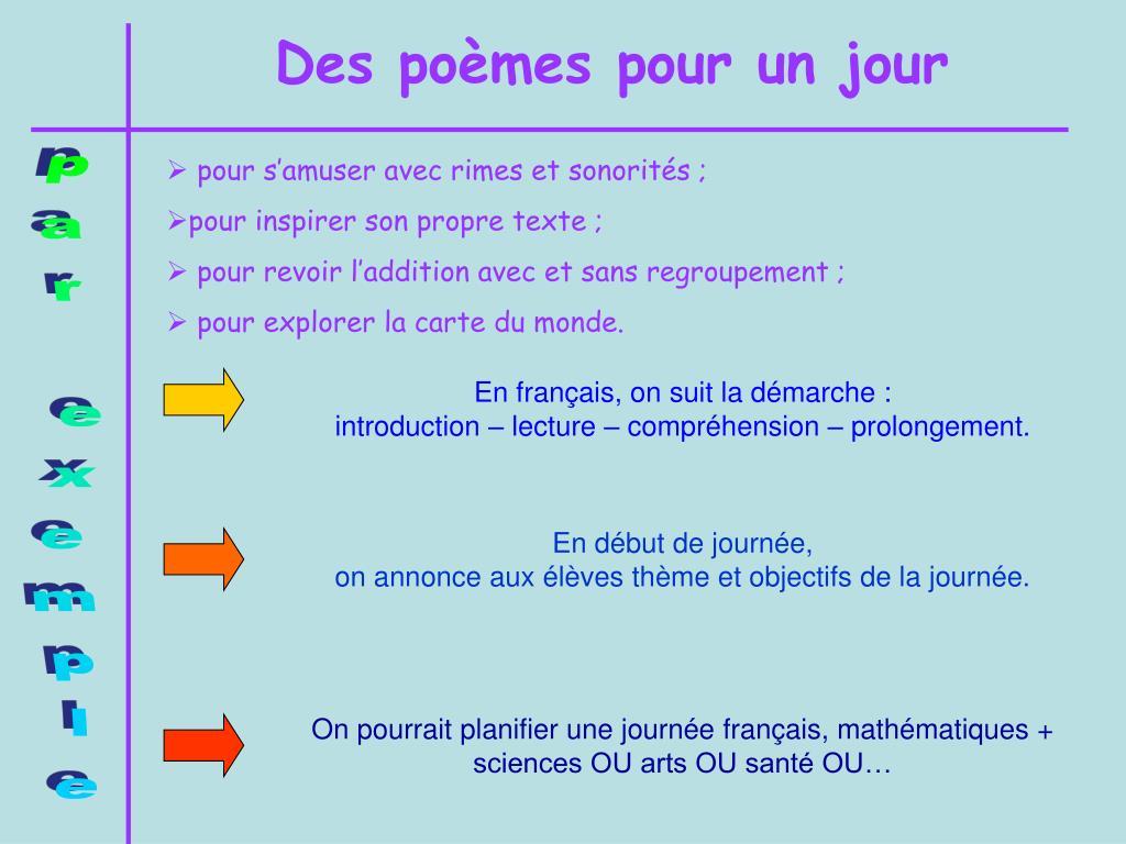 Ppt Des Poèmes Powerpoint Presentation Free Download Id