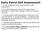 daily patrol self assessment