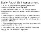 daily patrol self assessment20