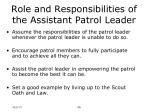 role and responsibilities of the assistant patrol leader8