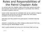 roles and responsibilities of the patrol chaplain aide10