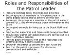roles and responsibilities of the patrol leader6
