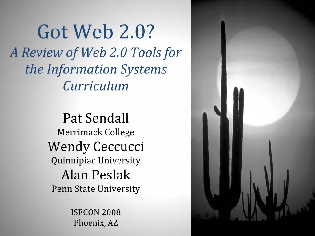 got web 2 0 a review of web 2 0 tools for the information systems curriculum l.