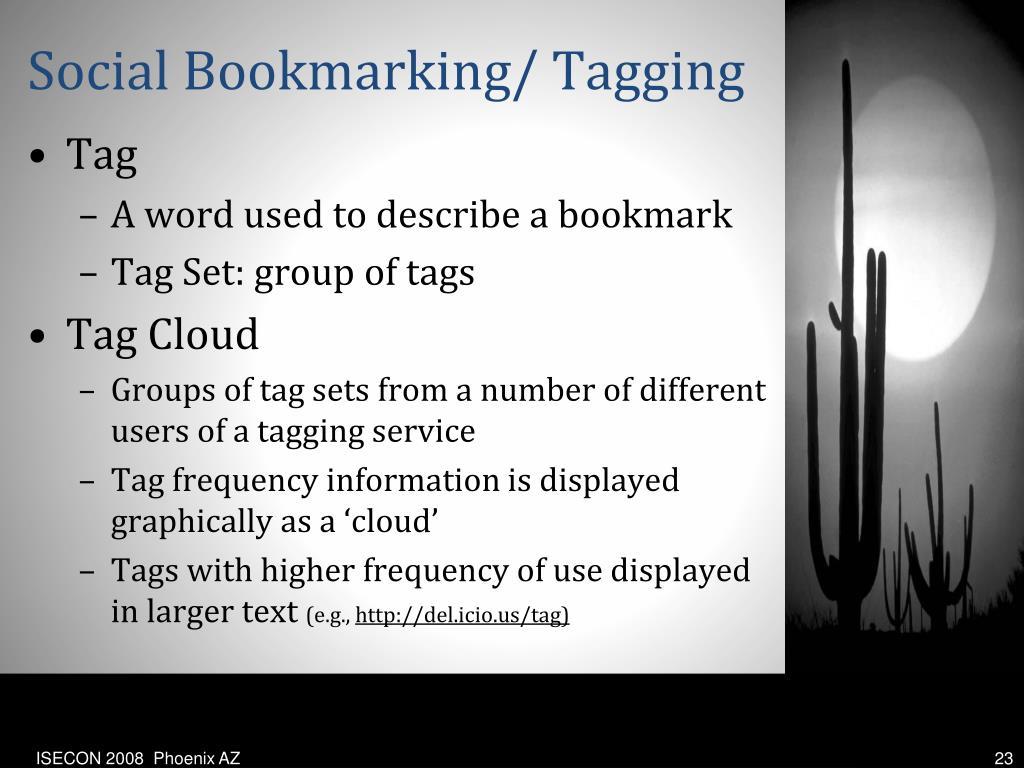 Social Bookmarking/ Tagging