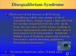 disequalibrium syndrome