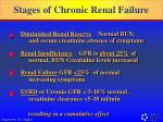 stages of chronic renal failure