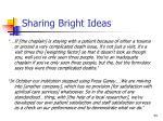 sharing bright ideas