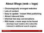 about blogs web logs