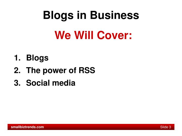 Blogs in business