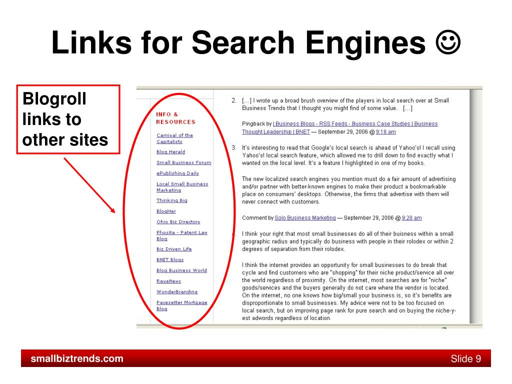 Links for Search Engines