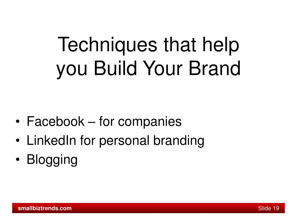 Techniques that help you Build Your Brand