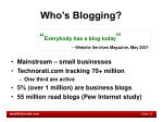 who s blogging