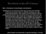 the dawn of the 20 th century12