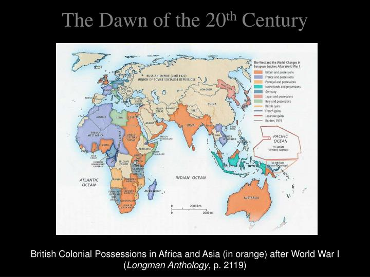 The dawn of the 20 th century2