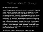 the dawn of the 20 th century7