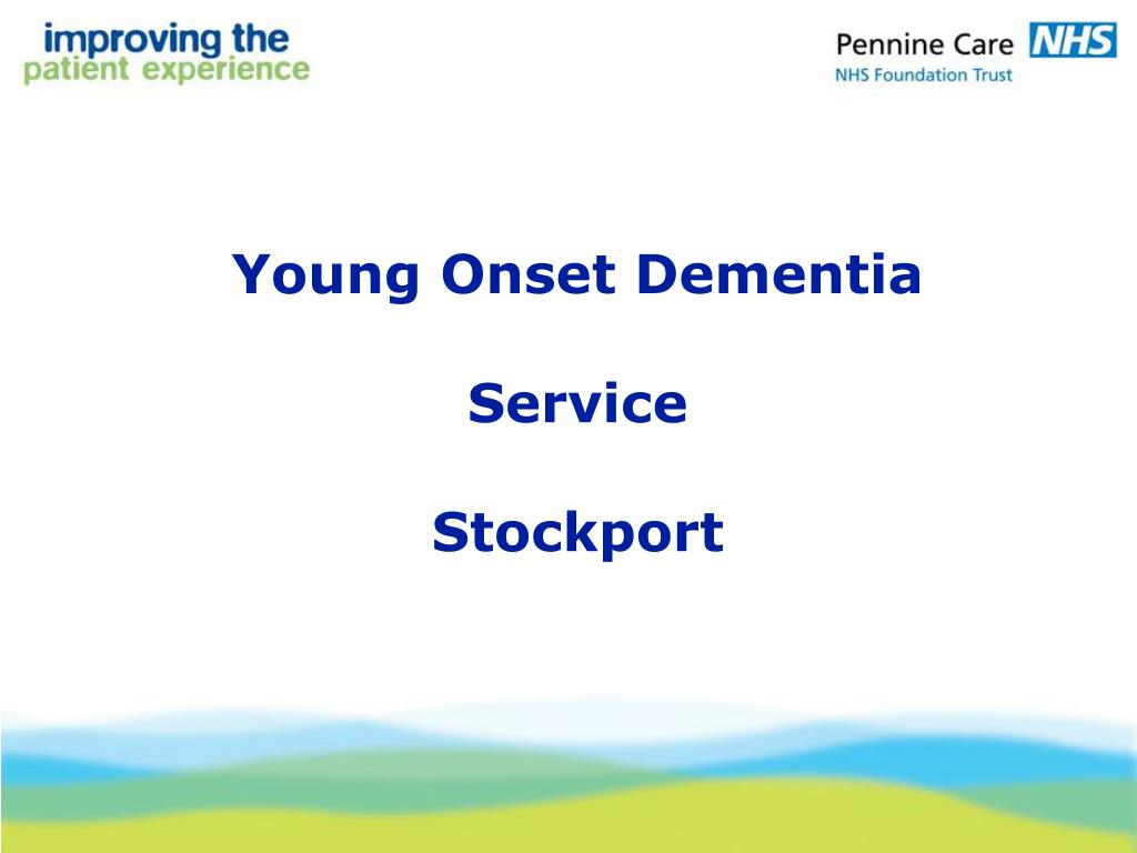 young onset dementia service stockport l.