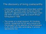 the discovery of living coelacanths
