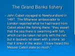 the grand banks fishery