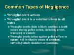 common types of negligence32