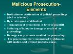 malicious prosecution elements