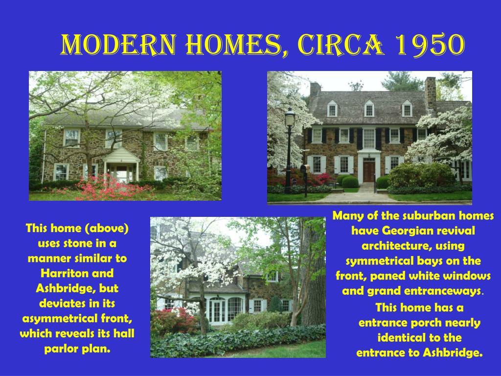 Modern Homes, circa 1950