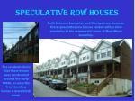 speculative row houses