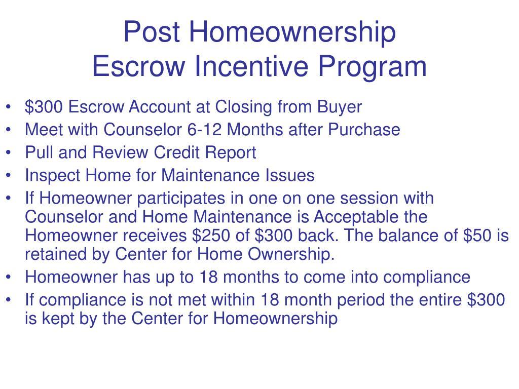 Post Homeownership