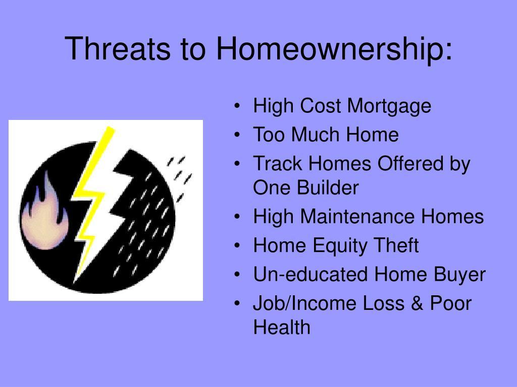 Threats to Homeownership:
