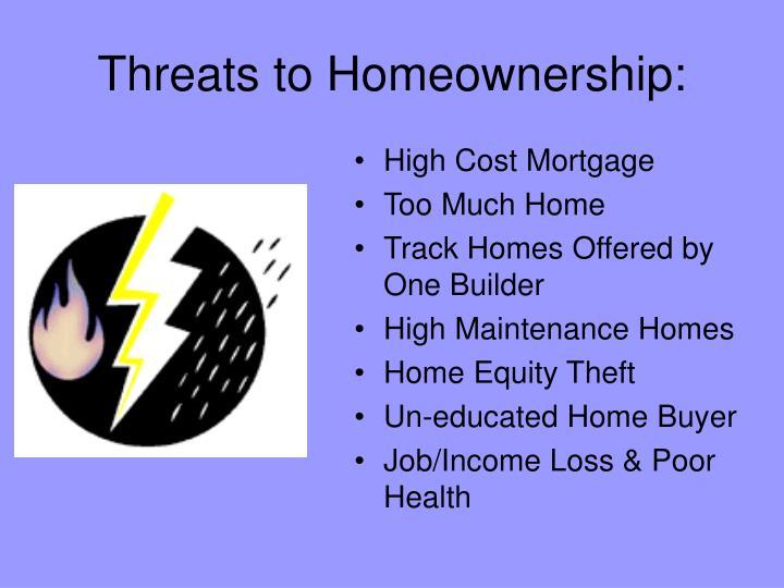 Threats to homeownership