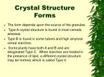 crystal structure forms
