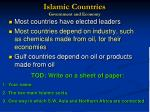islamic countries government and economy