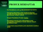 produk berdaftar
