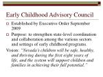 early childhood advisory council
